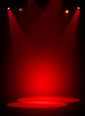 Fototapete - Red stage light background