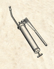 Automobile grease gun