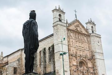 Foto auf Acrylglas Denkmal Philip II facing San Pablo Church in Valladolid