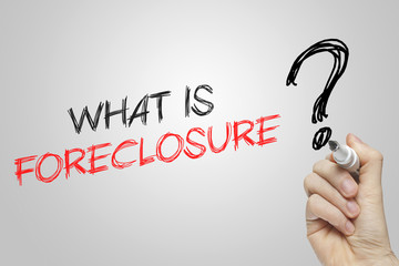 Hand writing what is foreclosure