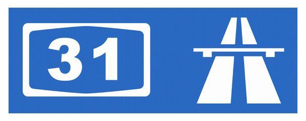 A31-Symbol mit Reflektierung