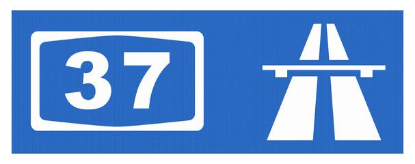 A37-Symbol mit Reflektierung