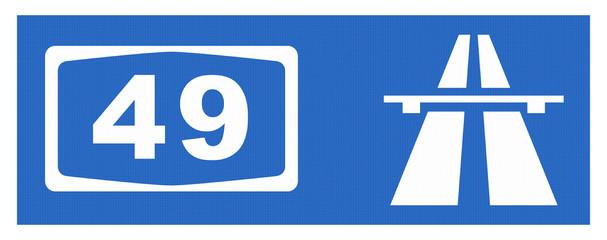 A49-Symbol mit Reflektierung