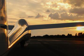 After glider flight