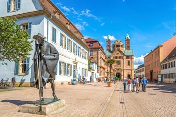 Speyer Pilgerfigur und Dom Wall mural