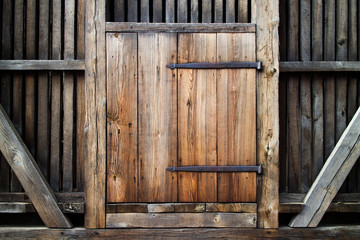 Antique wooden door.