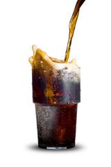 Cola Splas From Glass