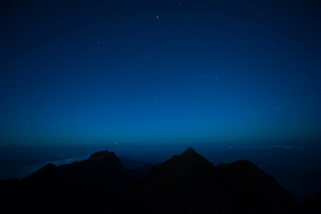 Night blue sky  Over Doi Luang Chiang Dao Thailand