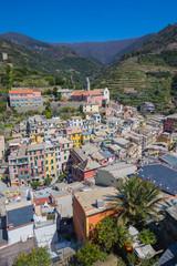 Wall Mural - Vernazza fisherman village in Cinque Terre, Italy