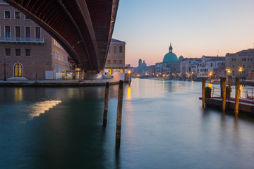 Wall Mural - Long exposure of grand canal in Venice, Italy.