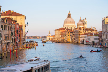 Wall Mural - The sunset at grand canal in Venice, Italy