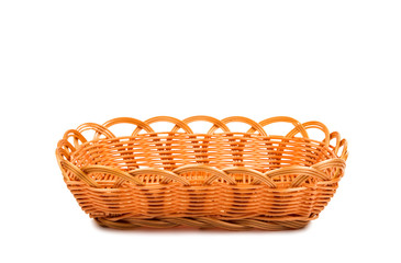 Empty wooden fruit or bread basket