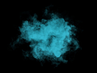 Illustration of blue smoke on black background