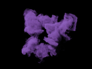Violett smoke on black background
