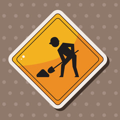 Construction Signs theme elements