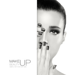 Beauty and Makeup. Template Design