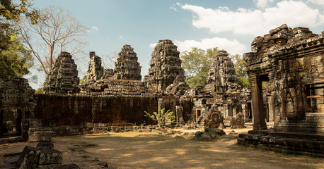 Banteay Kdei panorama with towers
