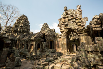 Banteay Kdei ruins portrait