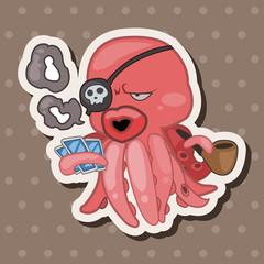 animal octopus cartoon theme elements
