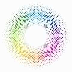 Colorful Polka Dot Circle Pattern #Vector Graphics