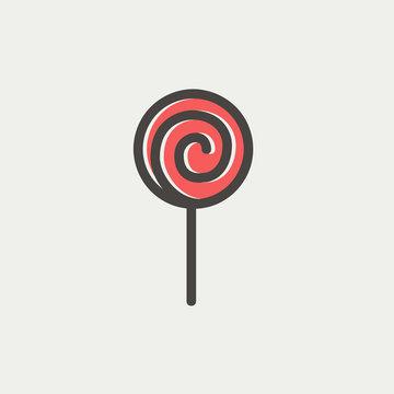 Lollipop thin line icon