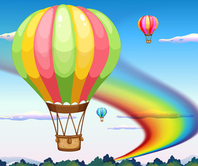 Balloons and rainbow
