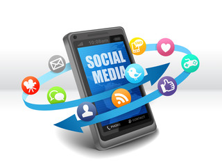 Social media on mobile phone