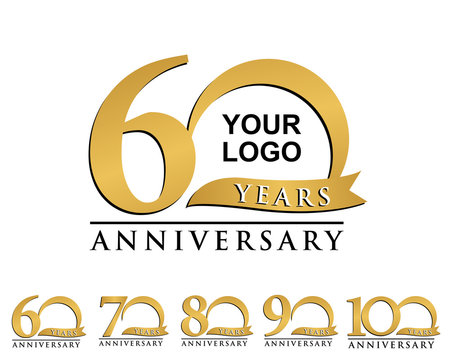 anniversary element gold logo 60-100