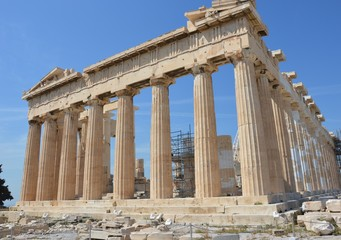 Parthenon in Acropolis of Athens