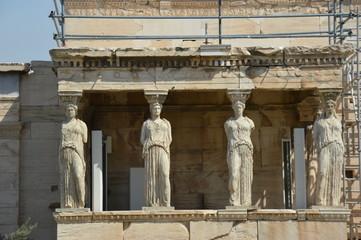 Kariatides in Acropolis of Athens