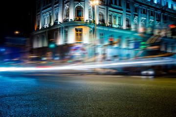 traffic in night