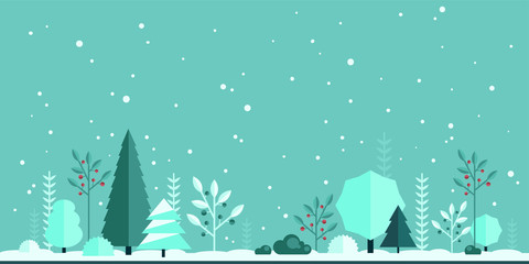 flat forest background