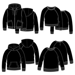 Girls hoodies.Black