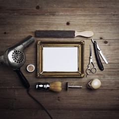 Barber tools with blank frame