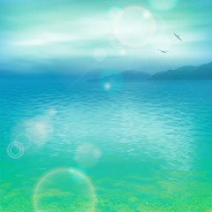 Wall Mural - Sea Vector Background