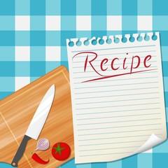 Kitchen recipe design background