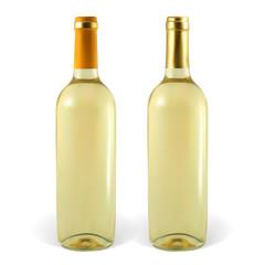 Set of vector wine bottles.