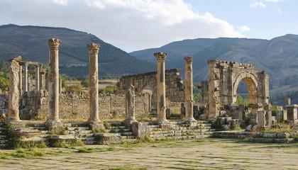 Foto op Aluminium Algerije Roman ruins