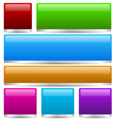 Colorful buttons, bars with 3d effect