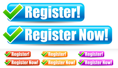 Register and register now buttons with checkmark