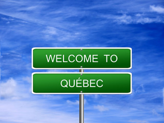 Quebec Province Welcome Sign