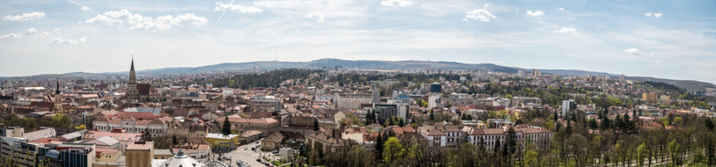 High View Panorama Of Cluj Napoca City In Romania