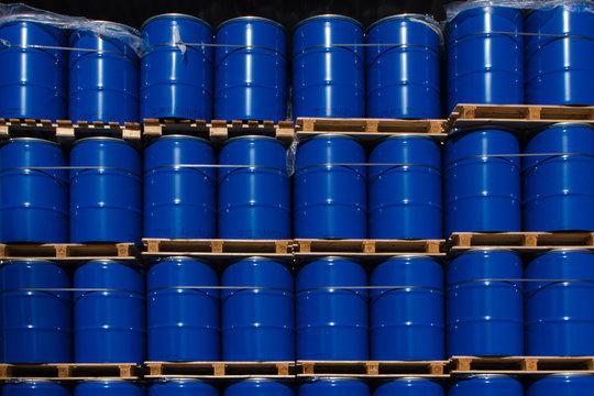 Industrie-blaue Fässer1
