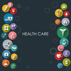 Health care backround with flat icons