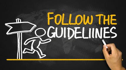 follow the guidelines handwritten on blackboard