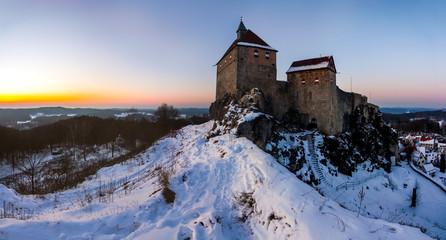 Winterabend Burg Hohenstein (Frankenalb)