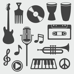 Musical Instruments / Seamless Background
