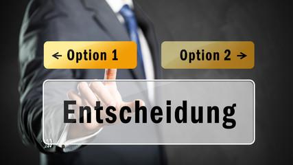 Entscheidung zwischen Optionen
