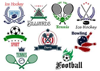 Team and individual sports heraldic emblems