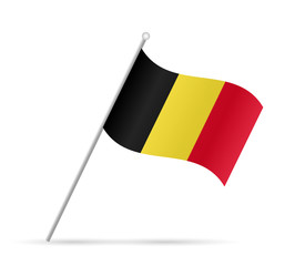 Belgium Flag Illustration